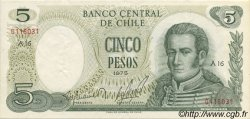 5 Pesos CHILI  1975 P.149a SUP