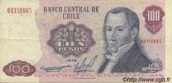 100 Pesos CHILI  1981 P.152b TTB+