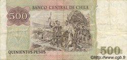 500 Pesos CHILI  1987 P.153b TTB