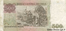 500 Pesos CHILI  1988 P.153b TTB