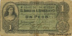 1 Peso CHILI  1879 PS.237 B à TB