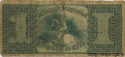 1 Peso CHILI  1876 PS.486 B+