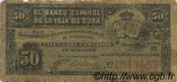 50 Centavos CUBA  1896 P.046a pr.TB