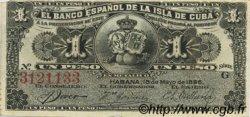 1 Peso CUBA  1896 P.047a TTB+