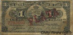 1 Peso CUBA  1896 P.047b TB