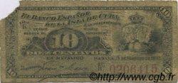 10 Centavos CUBA  1897 P.052 B