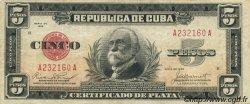 5 Pesos CUBA  1934 P.070b TB+