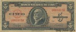 5 Pesos CUBA  1949 P.078a TB