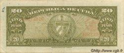 20 Pesos CUBA  1949 P.080a TTB