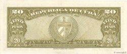 20 Pesos CUBA  1958 P.080b SPL