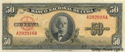 50 Pesos CUBA  1950 P.081a SUP