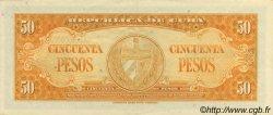 50 Pesos CUBA  1960 P.081c SPL+