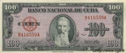100 Pesos CUBA  1954 P.082b pr.SPL