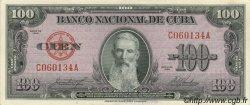 100 Pesos CUBA  1958 P.082c SPL+