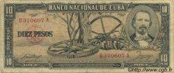 10 Pesos CUBA  1958 P.088b TB
