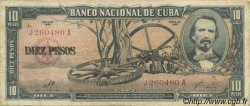 10 Pesos CUBA  1960 P.088c TTB