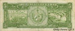 5 Pesos CUBA  1958 P.091a TB+