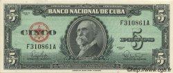 5 Pesos CUBA  1960 P.092a pr.NEUF