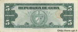 5 Pesos CUBA  1960 P.092a var SUP