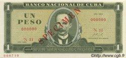 1 Peso CUBA  1969 P.102s NEUF