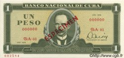1 Peso CUBA  1979 P.102s NEUF