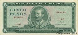 5 Pesos CUBA  1968 P.103a SUP+