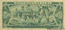 5 Pesos CUBA  1972 P.103b TTB