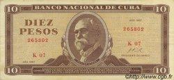 10 Pesos CUBA  1967 P.104a TTB+