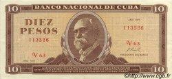 10 Pesos CUBA  1971 P.104a SUP