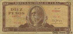 10 Pesos CUBA  1986 P.104c B+