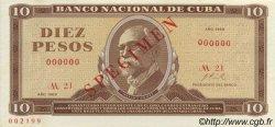 10 Pesos CUBA  1969 P.104s NEUF