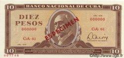 10 Pesos CUBA  1978 P.104s NEUF