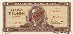 10 Pesos CUBA  1983 P.104s NEUF