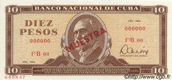 10 Pesos CUBA  1984 P.104s pr.NEUF