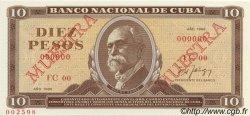 10 Pesos CUBA  1986 P.104s NEUF