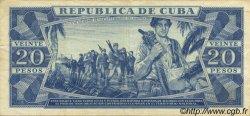 20 Pesos CUBA  1990 P.105d TTB+