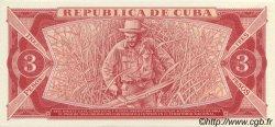3 Pesos CUBA  1983 P.107a SPL+