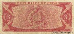 3 Pesos CUBA  1984 P.107a TB+