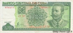 5 Pesos CUBA  1997 P.116 TTB+