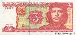 3 Pesos CUBA  2004 P.127 SUP