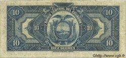 10 Sucres ÉQUATEUR  1943 P.092a TB
