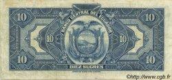 10 Sucres ÉQUATEUR  1949 P.092d TTB+
