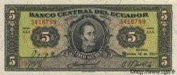 5 Sucres ÉQUATEUR  1951 P.098a pr.NEUF