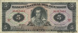5 Sucres ÉQUATEUR  1970 P.100d pr.TTB