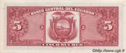 5 Sucres ÉQUATEUR  1970 P.100d pr.NEUF