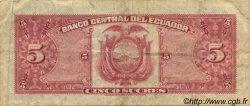 5 Sucres ÉQUATEUR  1973 P.100d TB+