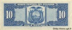 10 Sucres ÉQUATEUR  1971 P.101Ab SPL