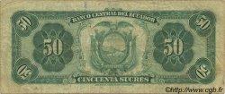 50 Sucres ÉQUATEUR  1969 P.104a TB