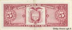 5 Sucres ÉQUATEUR  1975 P.108a pr.SPL