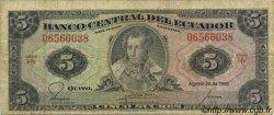 5 Sucres ÉQUATEUR  1982 P.108b B